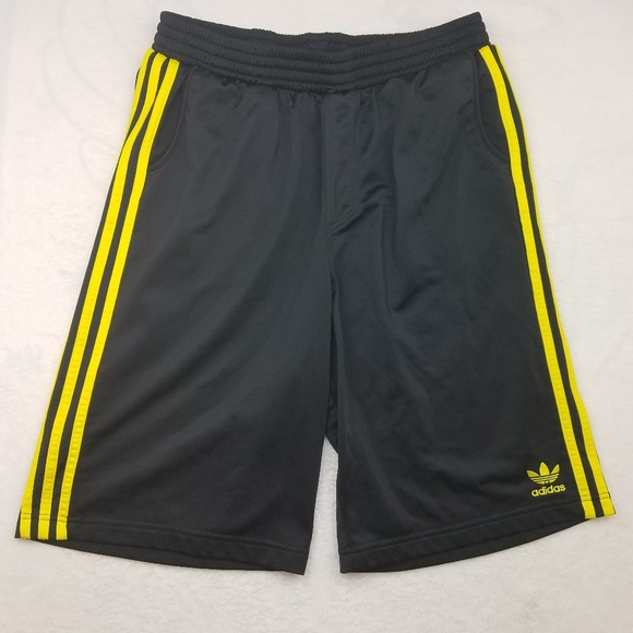 Shorts Adidas Yellow Black Basketball Trefoil TJF13lcK